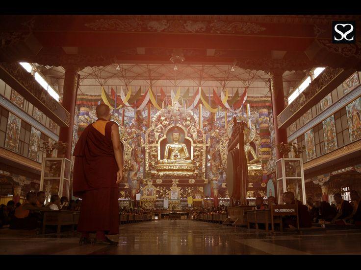 Monk overseeing prayers @ Golden temple, Coorg Satheesh Sankaran Photography www.facebook.com/justanothercreativesoul www.flickr.com/photos/justanothercreativesoul