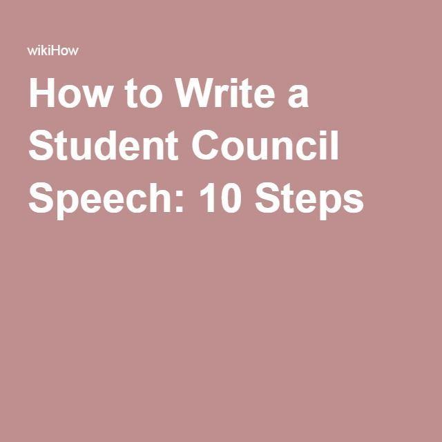 how to write a campaign speech for treasurer