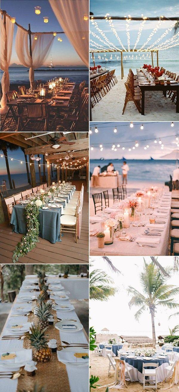 20 Stunning Beach Wedding Reception Ideas For Summer 2019 With
