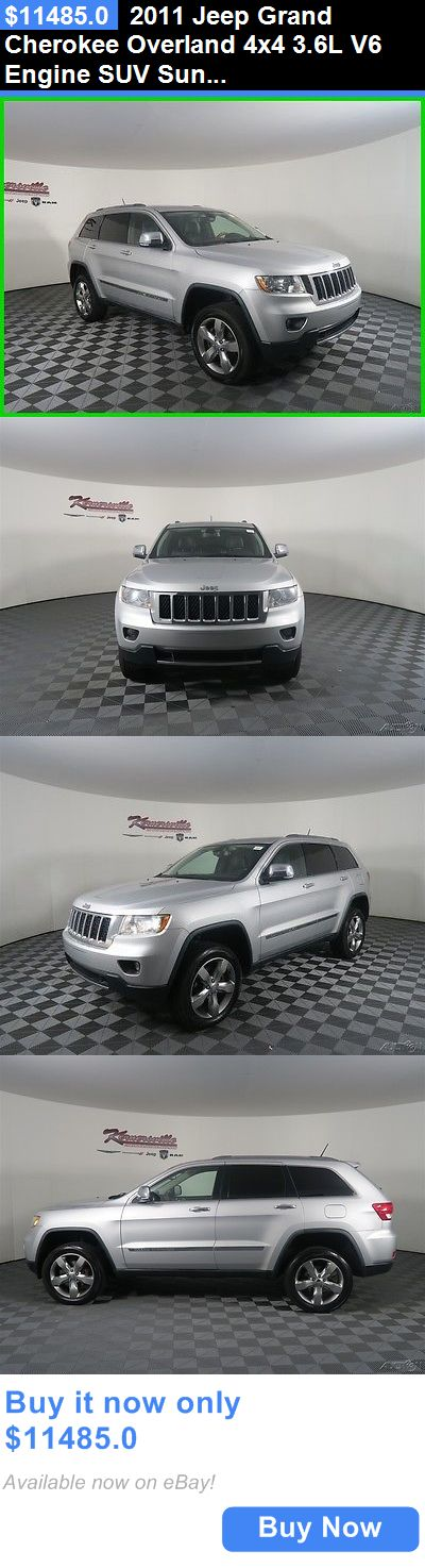 SUVs: 2011 Jeep Grand Cherokee Overland 4X4 3.6L V6 Engine Suv Sunroof Leather Easy Financing! 206157 Miles Used Silver 2011 Jeep Grand Cherokee Overland Su BUY IT NOW ONLY: $11485.0