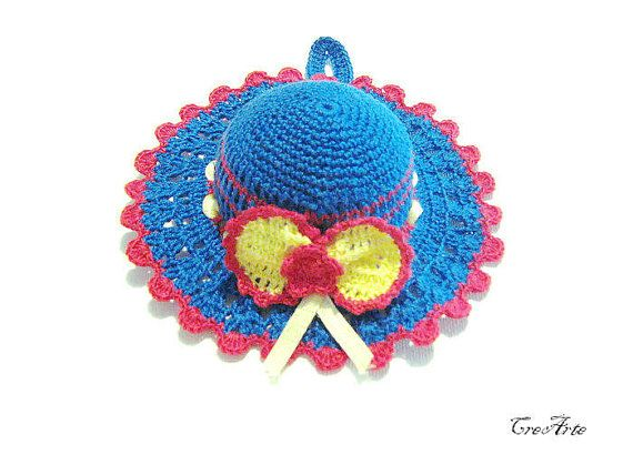 Crochet Pincushion Deep Blue Pincushion Handmade by CreArtebyPatty