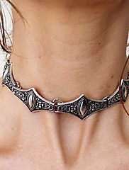 Femme Collier court /Ras-du-cou Colliers Déclaration Alliage Mode Bijoux de déclaration Style Folk Personnalisé Argent Bijoux PourMariage