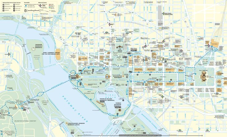 Image result for dc tourist map