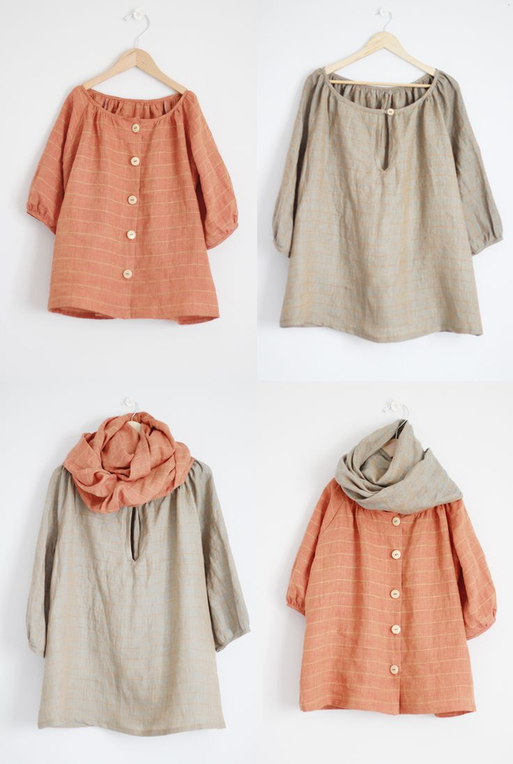 Monday Outfit: Mini Me Style - linen tunics for adult and child with coordinating linen infinity scarves // Sanae Ishida