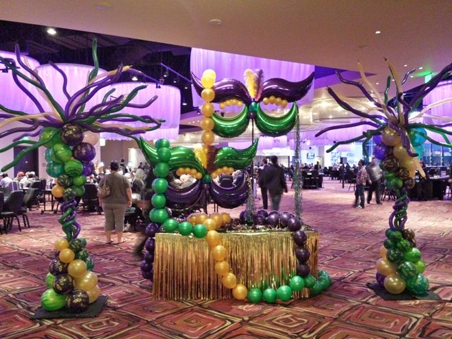 Mardi Gras Ball Decorations Enchanting 8 Best Mardi Gras Images On Pinterest  Balloon Ideas Mardi Gras Design Decoration