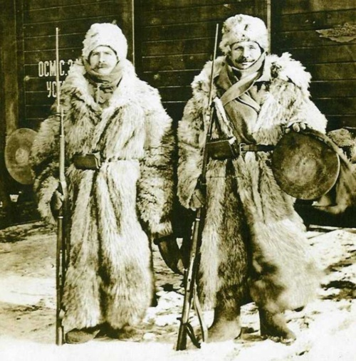 Czech soldiers in Russia, 1918.