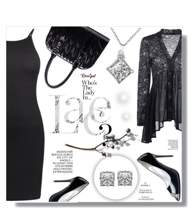 """""""Lace Top"""" by sans-moderation ❤ liked on Polyvore featuring rosegal"""