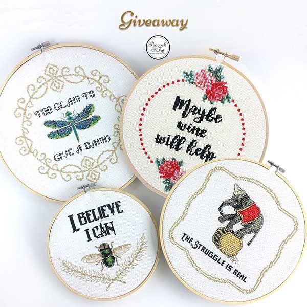 Win two free cross stitch patterns