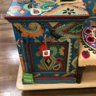 painted end table idea