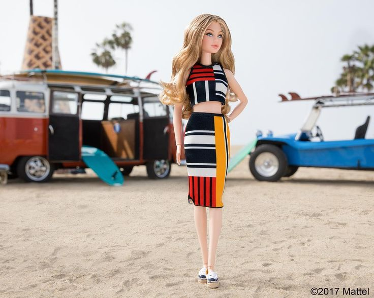 """""""Oh-em-Gigi! The one-and-only @gigihadid wearing a look from her @TommyHilfiger collection. It's all about California cool! """" Barbie Style on Instagram. Gigi Hadid doll most likely a One of a Kind (OOAK). 02/08/2017"""