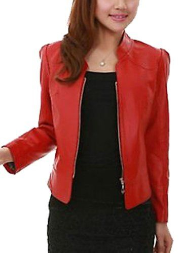 8 Colors Women Leather Jacket Female...