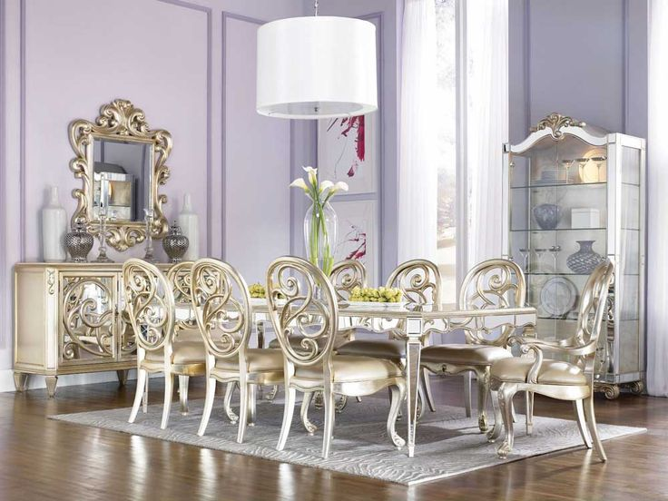 luxury dining room furniture sets with gold table and chairs
