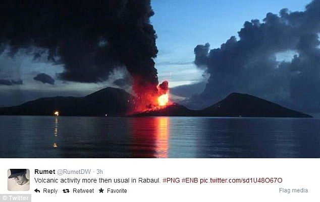The town of Rabaul was completely wiped out in 1994 when two volcanoes erupted...