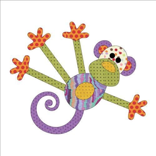 (7) Name: 'Quilting : Applique Add On's -Monkey Tales