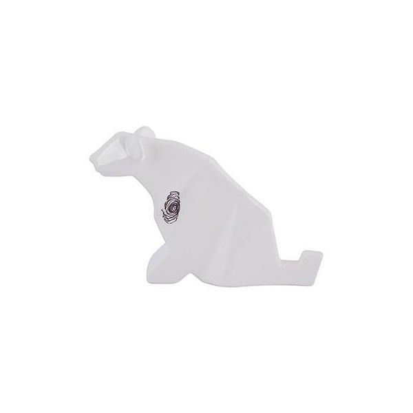 NOVICA Handcrafted Ceramic Jaguar Origami Sculpture from Mexico ($45) ❤ liked on Polyvore featuring home, home decor, clothing & accessories, sculpture, white, ceramic sculpture, geometric sculpture, handmade home decor, novica home decor and handcrafted home decor
