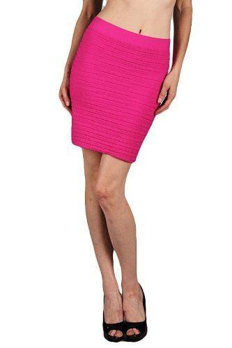 G2 Chic Solid Textured Ribbed Skirt(BTM-SKT,PNK-M) G2 Chic. $15.93. Save 71% Off!