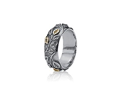 Silver ring, 14ct