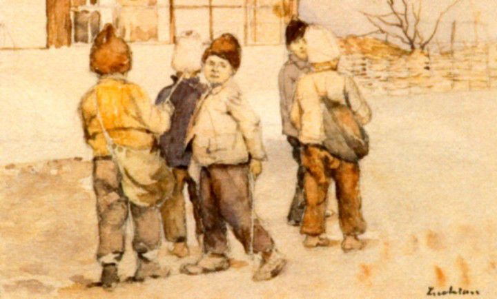 Ştefan Luchian -Copii la scoala