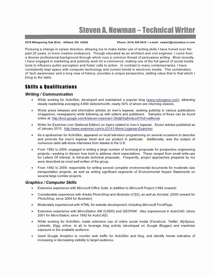 Technical writer resume examples unique technical writer