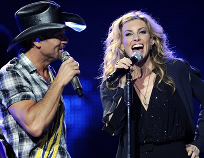 Tim McGraw and Faith Hill. Great concert.
