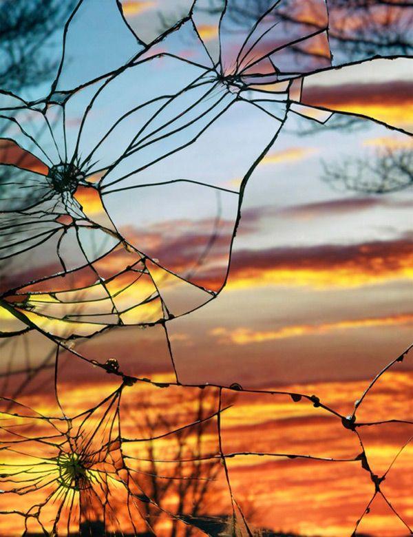 Broken Mirror/Evening Sky (Anscochrome), 2012 BY BING WRIGHT PHOTOGRAPH
