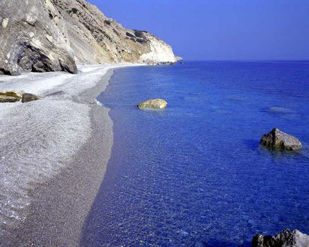 Evia, Greece. I'm pretty anti-Greece. But this is where the greeks go because there is little-no tourism:)