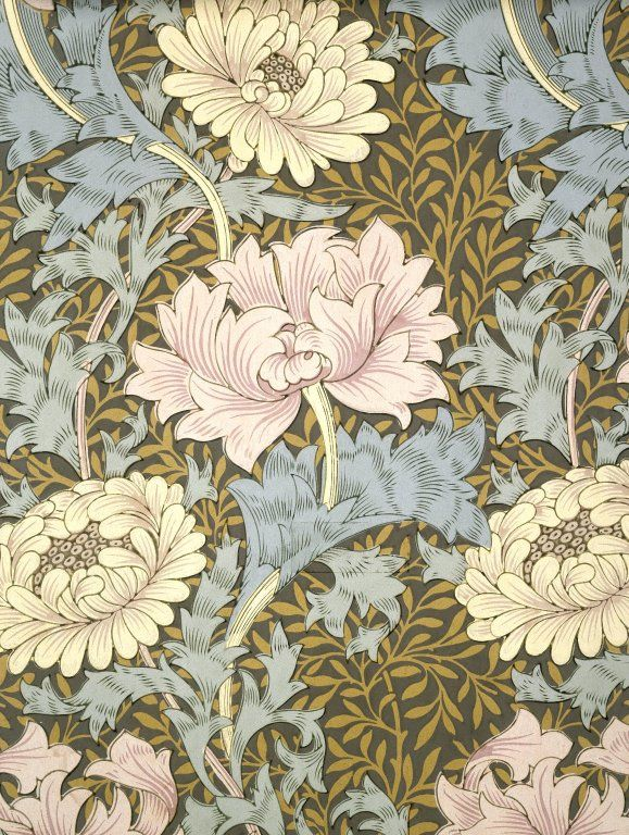 Chrysanthemum by William Morris. Brooklyn Museum: Decorative Arts: Wallpaper Sample Book