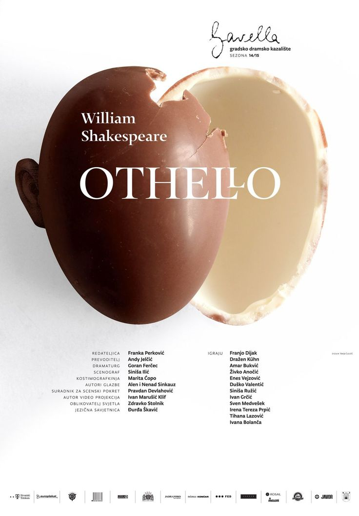 Shakespeare: Othello. Theatre poster design by Vanja Cuculić / Studio Cuculić for Gavella Theatre.