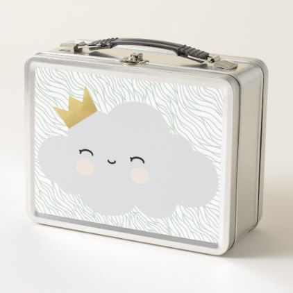 Kids modern Lunch Box - Sweet Cloud Design - baby gifts child new born gift idea diy cyo special unique design
