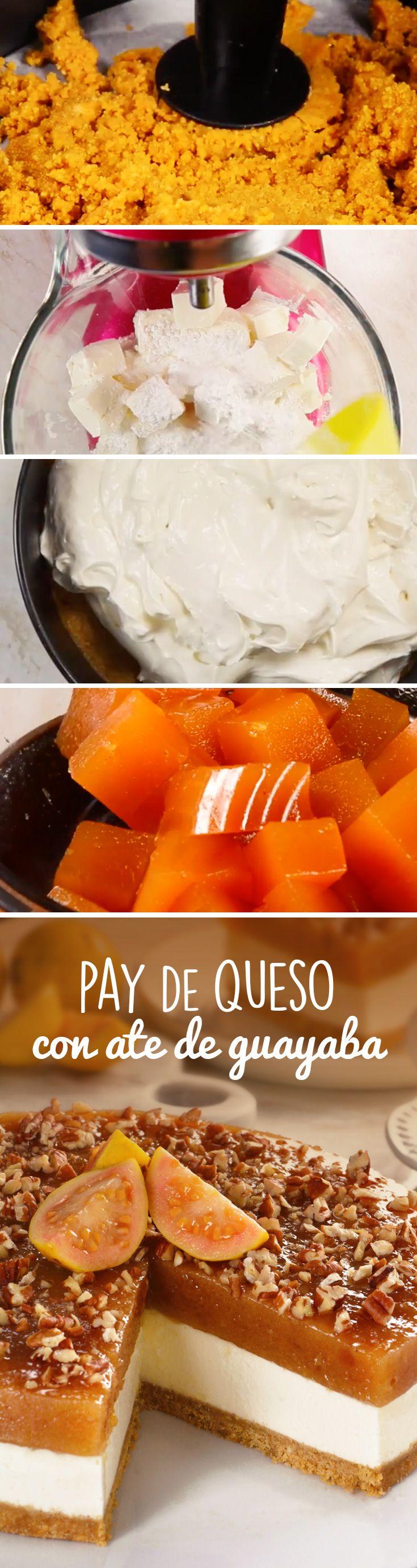 Este pay de queso con ate es una un postre muy original para fiestas patrias o Navidad, ya que combina el delicioso sabor a guayaba y quesos de un cheesecake sin horno.