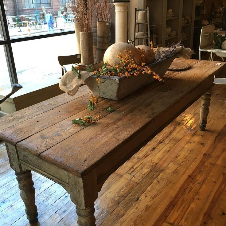farm table love - Antique Farmhouse Kitchen Tables