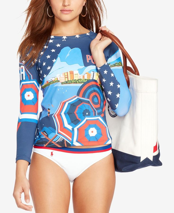 Polo Ralph Lauren Team Usa Printed Rashguard