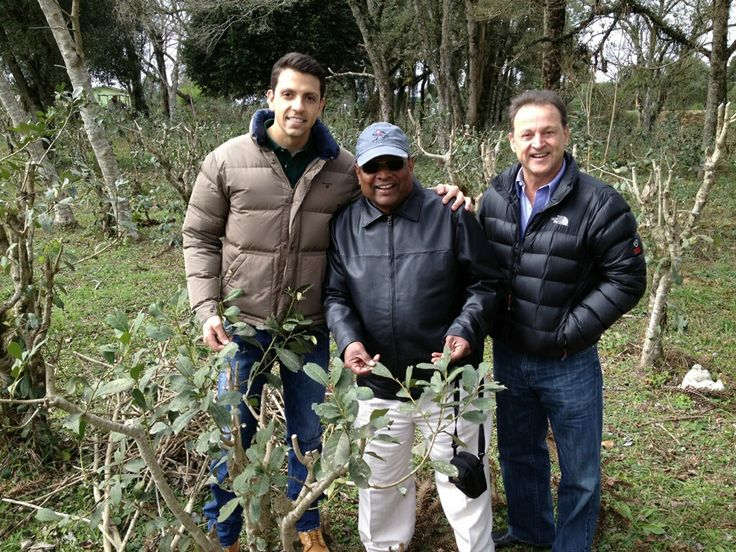CEO, Raju Boligala (middle) with HQO's yerba mate growers...making a sustainable relationship.