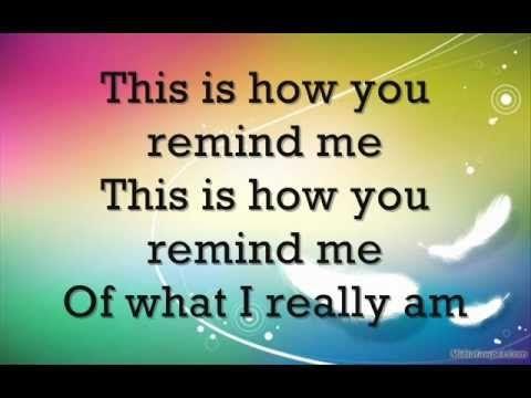 Avril Lavigne - How You Remind Me - LYRICS - (Letras) nickelback cover