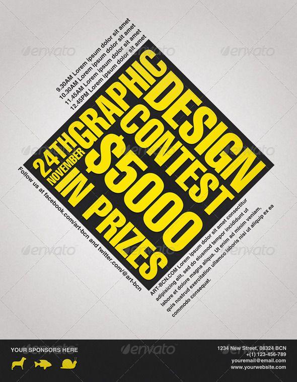 graphic design contest flyer 300dpi cmyk contest event flyer