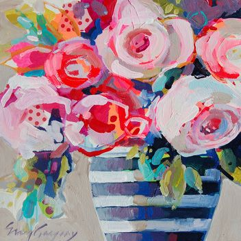Erin Fitzhugh Gregory Erin Gregory Blooming Color 5, 12x12, Two Sisters Gallery, Columbus, GA