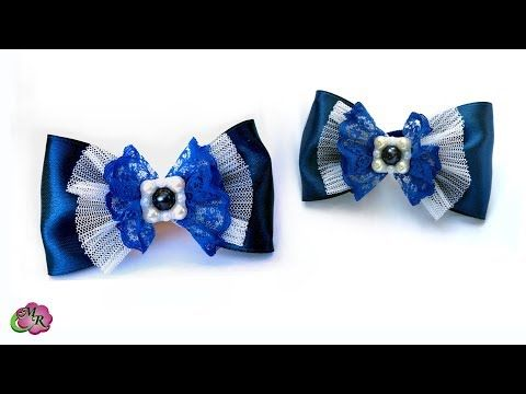 Супер легкий бантик в школу. Канзаши МК/ DIY Very easy bow to school - YouTube
