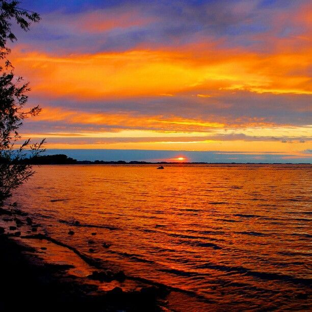 Beautiful Chang E 3: Check Out This #sunset In #PortClinton #Ohio