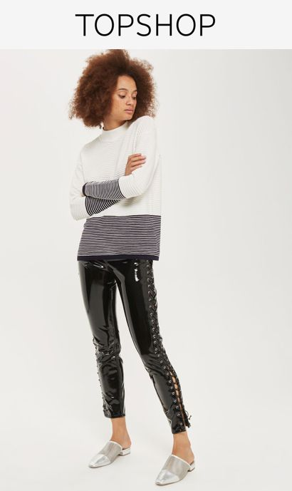 Look to stripes to keep your knitwear on-trend in this long sleeve jumper with ivory and navy colour blocking. Team with ankle-grazing jeans and loafers for a chic finish.