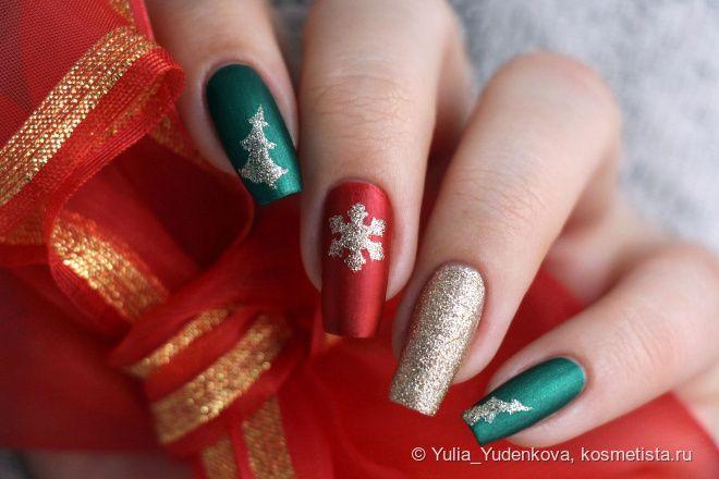 """Праздничный маникюр с трафаретами для дизайна ногтей Prima Nails """"Рождество"""""""