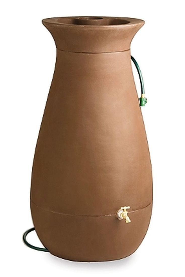 Contemporary Rain Barrel Urn Holds 65 Gallons