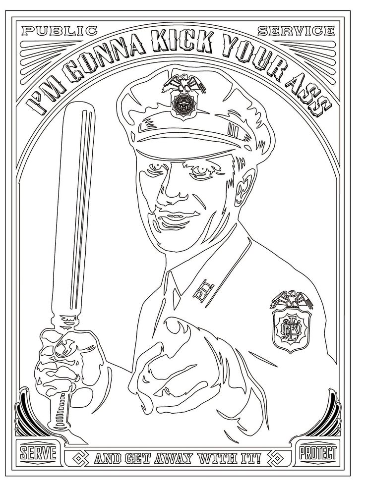 The Police Brutality Coloring Book