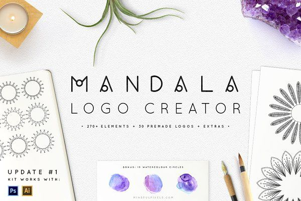 Mandala Logo Creator - Logos