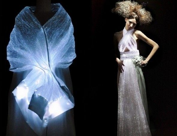 Pintura luminiscente para materiales textiles, la nueva palabra en diseños de moda. www.acmelight.la