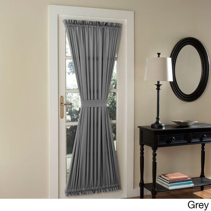 sun zero galia patio door window curtain grey 72inch size 72