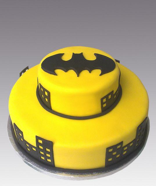 Batman Cake by Gellyscakes, via Flickr  Jasons Birthday Cake