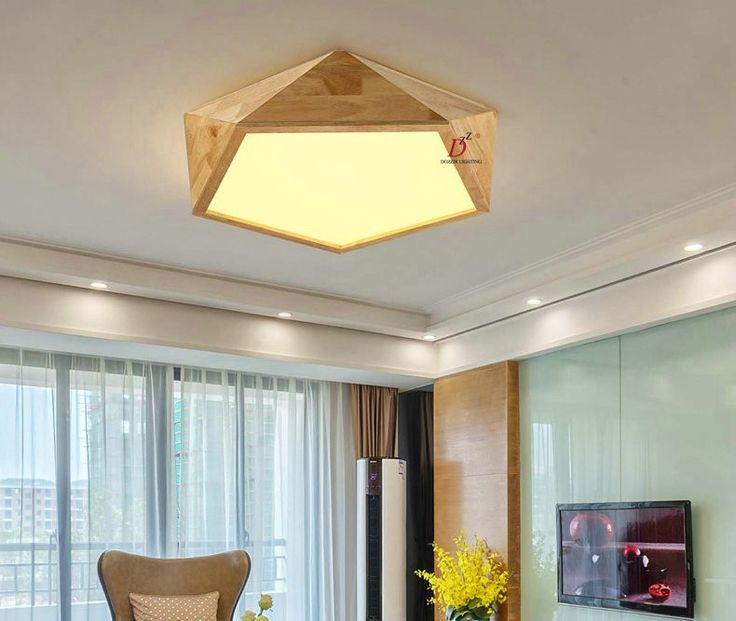 Modern wood bed room living room ceiling light with LED bulbs free shipping-in Ceiling Lights from Lights & Lighting on Aliexpress.com | Alibaba Group