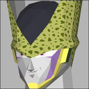 セル・ドラゴンボールの展開図 似顔絵 無料 ダウンロード ペーパークラフトファン