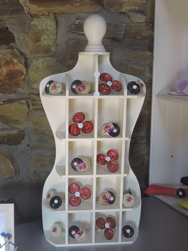 ronds de serviettes en capsules nespresso
