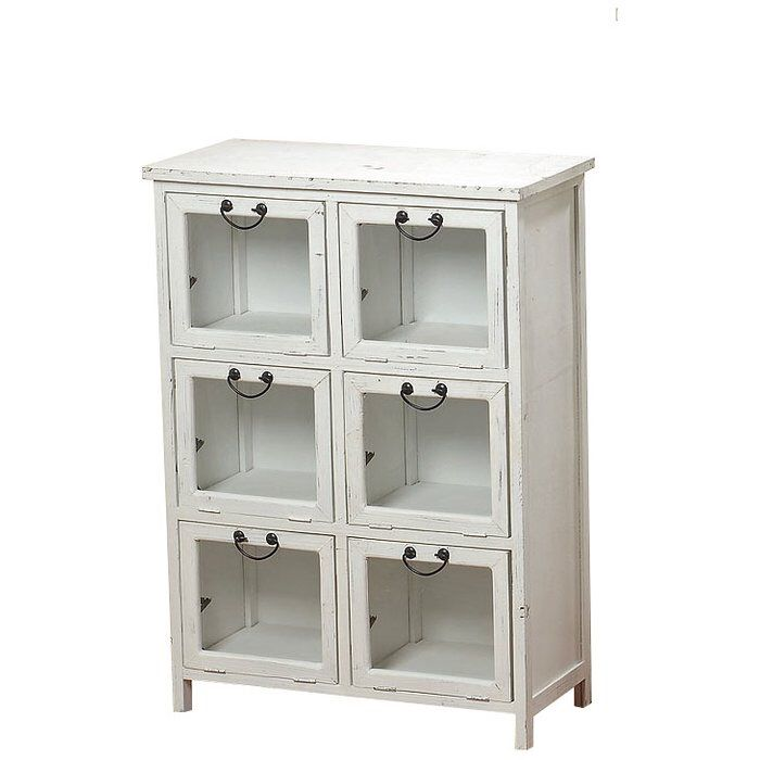 The Farmers Market Vintage Style Glass Front Apothecary Cabinet 6 Drop  Doors Drawers Rustic White Distressed And Weathered Finish Sustainable Wood  35 38 ...